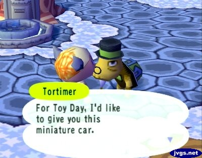 Tortimer: For Toy Day, I'd like to give you this miniature car.