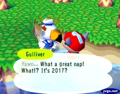 Gulliver: Yawn... What a great nap! What!? It's 2017?