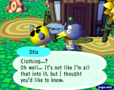 Otis: Clothing...? Oh well... It's not like I'm all that into it, but I thought you'd like to know.
