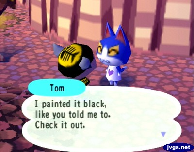 Tom: I painted it black, like you told me to. Check it out.