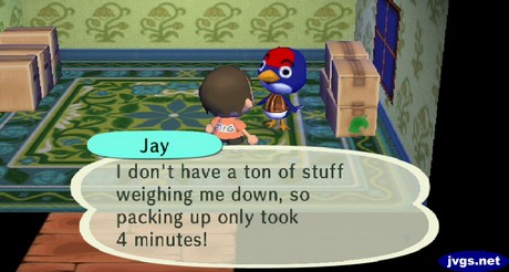 Jay: Packing up only took me 4 minutes!
