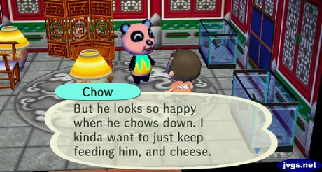 Chow: Wendell looks so happy when he eats. I want to just keep feeding him.