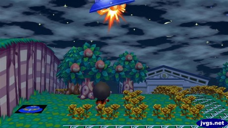 Shooting down a UFO.