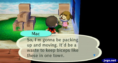 Mac: So, I'm gonna be packing up and moving. It'd be a waste to keep biceps like these in one town.