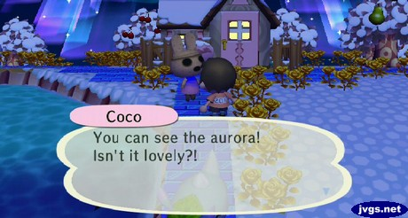 Coco: You can see the aurora! Isn't it lovely?!