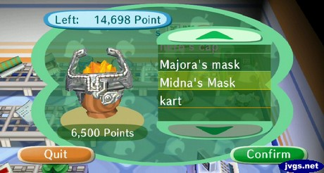 Midna's Mask (6,500 points) available from Nook's Point Tracking System (PTS).