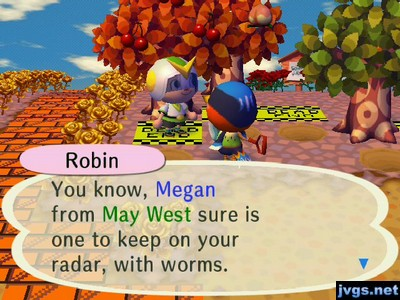 Robin: You know, Megan from May West sure is one to keep on your radar, with worms.