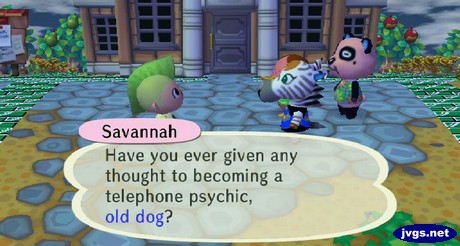 Savannah: Have you ever given any thought to becoming a telephone psychic, old dog?