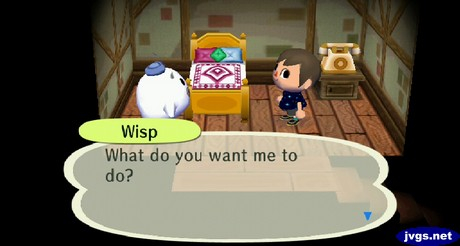 Wisp: What do you want me to do?