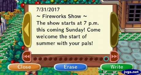 ~Fireworks Show~ The show starts at 7 p.m. this coming Sunday! Come welcome the start of summer with your pals!