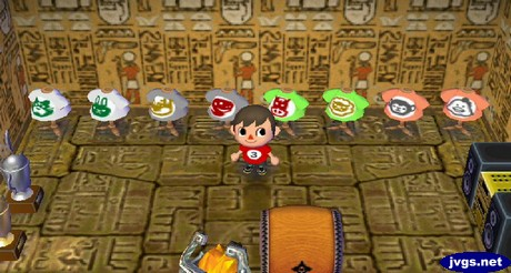 The ancient wall and ancient tile (floor) in Animal Crossing: City Folk for Nintendo Wii.