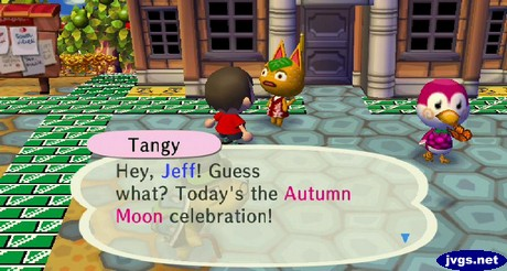 Tangy: Hey, Jeff! Guess what? Today's the Autumn Moon celebration!