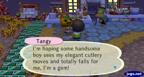 Tangy: I'm hoping some handsome boy sees my elegant cutlery moves and totally falls for me, I'm a gem!
