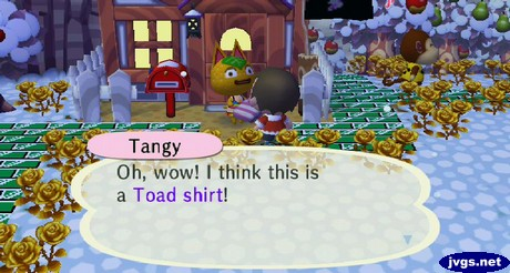 Tangy: Oh, wow! I think this is a Toad shirt!
