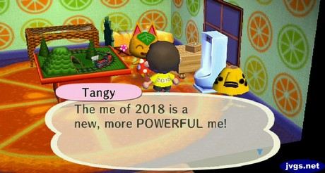 Tangy: The me of 2018 is a new, more POWERFUL me!