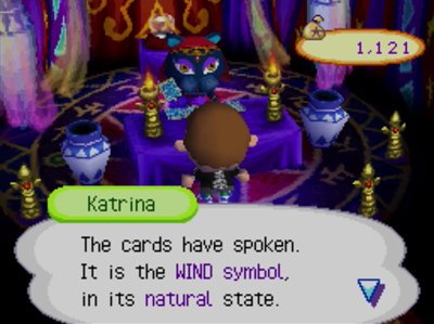Katrina: The cards have spoken. It is the WIND symbol, in its natural state.