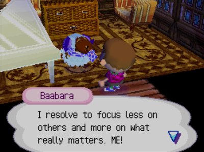 Baabara: I resolve to focus less on others and more on what really matters. ME!