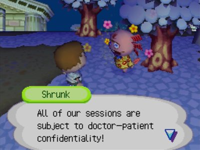 Shrunk: All of our sessions are subject to doctor-patient confidentiality!