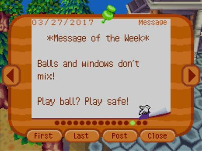 *Message of the Week* Balls and windows don't mix! Play ball? Play safe!