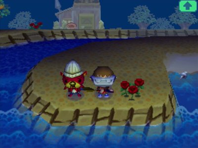 Pascal standing by the ocean in Animal Crossing: Wild World.