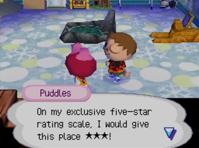 Puddles: On my exclusive five-star rating scale, I would give this place three stars!