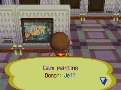 The calm painting in the museum in Animal Crossing: Wild World (ACWW).