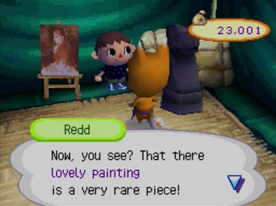 Redd: Now, you see? That there lovely painting is a very rare piece!