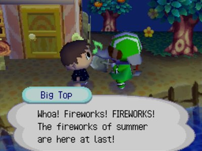Big Top: Whoa! Fireworks! FIREWORKS! The fireworks of summer are here at last!
