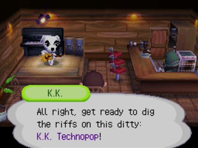 K.K.: All right, get ready to dig the riffs on this ditty: K.K. Technopop!