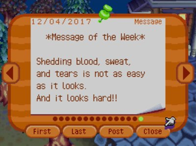 *Message of the Week* Shedding blood, sweat, and tears is not as easy as it looks. And it looks hard!!