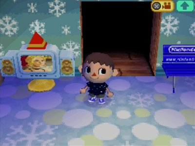 The snowman TV in Animal Crossing: Wild World (ACWW) for Nintendo DS.