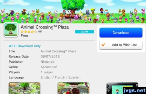 Announced animal crossing plaza it s a free eshop download for wii u