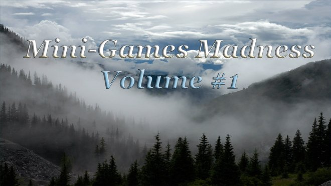 Mini-Games Madness Volume 1 title screen.