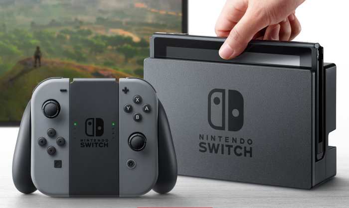 Nintendo Switch system in the dock.