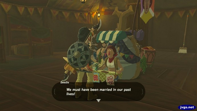 Beedle: We must have been married in our past lives.