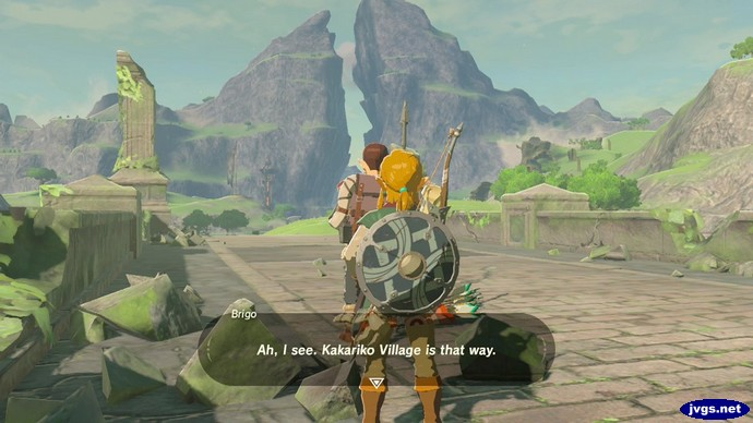 Brigo: Ah, I see. Kakariko Village is that way.