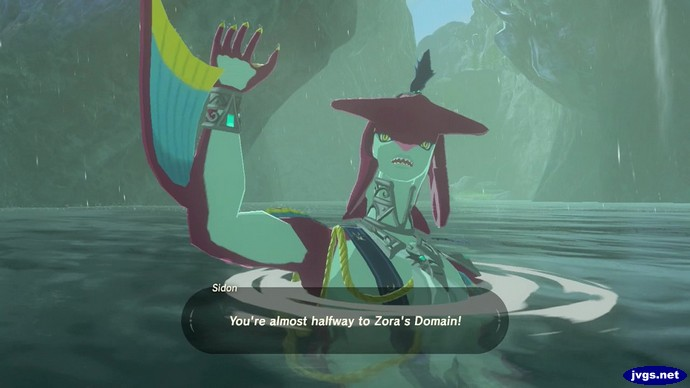 Sidon: You're always halfway to Zora's Domain!