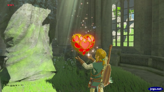 Link obtains a new heart container.
