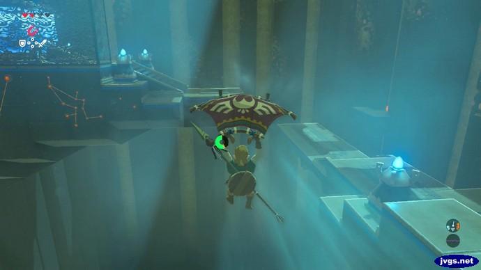 Sailing through the shrine.