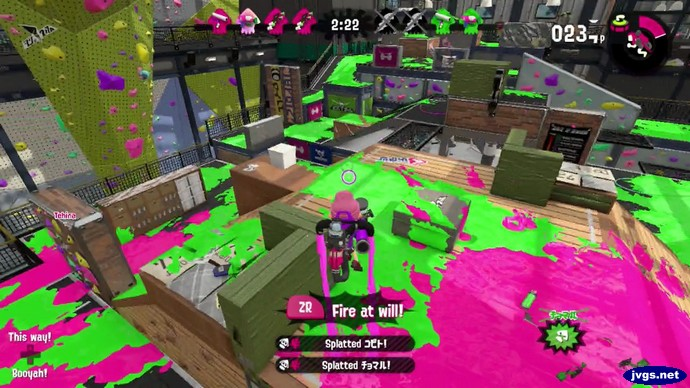 The ink jet special weapon in Splatoon 2 for Nintendo Switch.