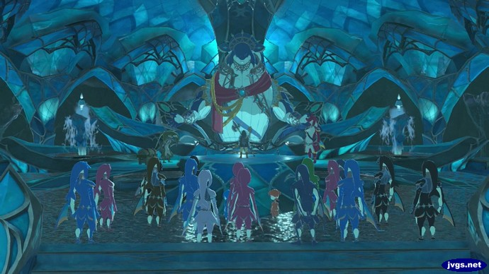 The crowd gathers to thank me at Zora's Domain.