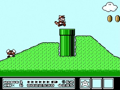 Gameplay screenshot of Super Mario Bros. 3 on NES Classic Edition.