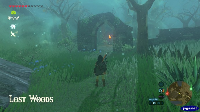 The entrance to the Lost Woods in The Legend of Zelda: Breath of the Wild.