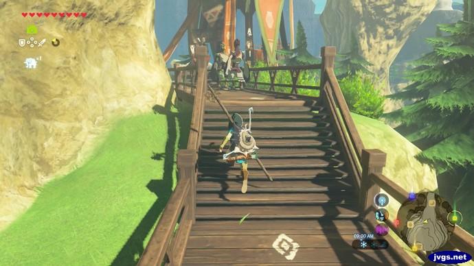 Rito Village in The Legend of Zelda: Breath of the Wild (BOTW).