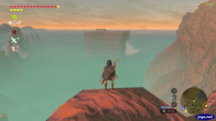 A modern looking building in The Legend of Zelda: Breath of the Wild.