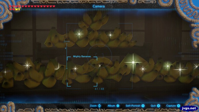 A room full of mighty bananas in the Yiga Clan hideout in Legend of Zelda: Breath of the Wild.