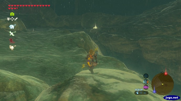 Something glows in the distance (Zelda BOTW).