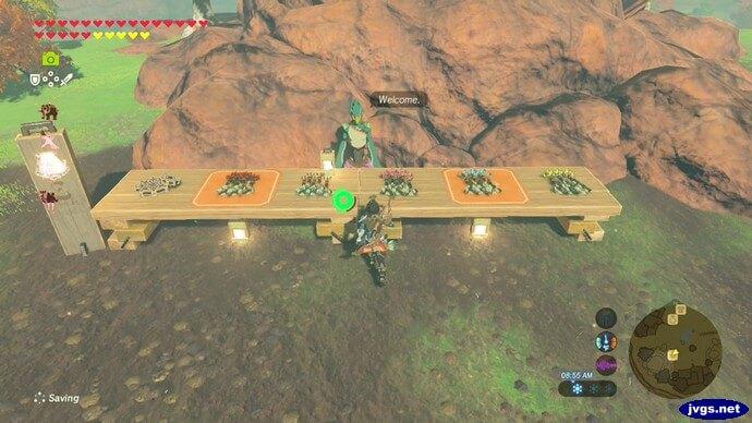 Fyson's arrow shop in Tarrey Town in The Legend of Zelda: Breath of the Wild for Nintendo Switch.