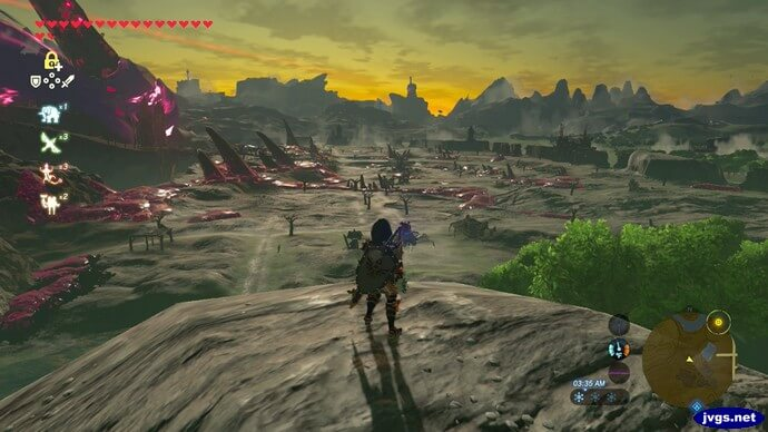 Sunrise in The Legend of Zelda: Breath of the Wild for Nintendo Switch.