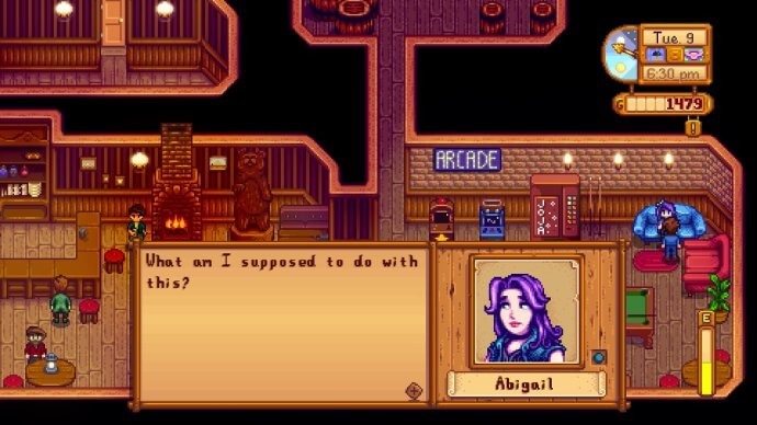 Abigail: What am I supposed to do with this?